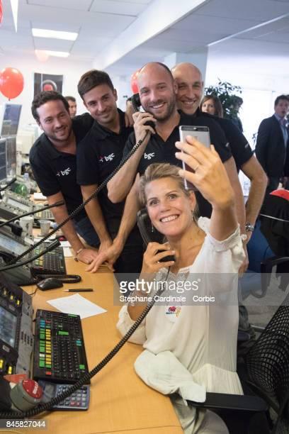 Laura Tenoudji aka Laura du Web attends the Aurel BGC Charity Benefit Day 2017 on September 11 2017 in Paris France