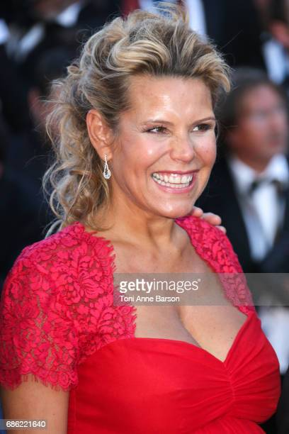 Laura Tenoudji attends the 'Ismael's Ghosts ' screening and Opening Gala during the 70th annual Cannes Film Festival at Palais des Festivals on May...