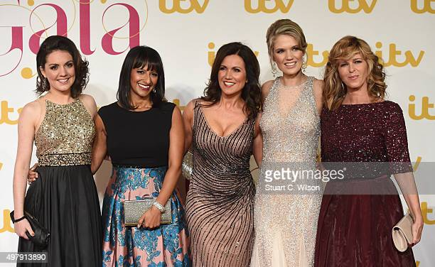 Laura Tobin Ranvir Singh Susanna Reid Charlotte Hawkins and Kate Garraway attend the ITV Gala at London Palladium on November 19 2015 in London...