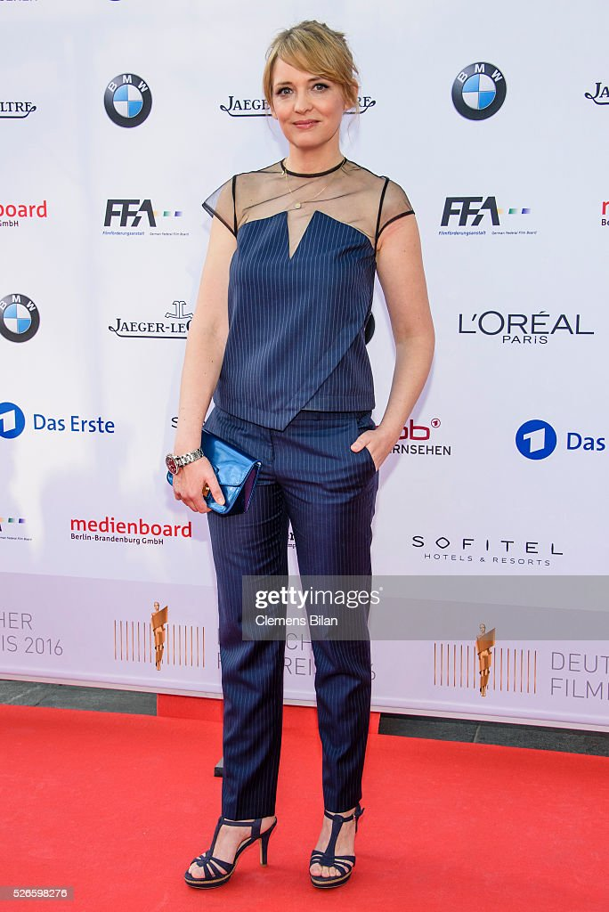Laura Tonke attends the nominee dinner for the German Film Award 2015 Lola (Deutscher Filmpreis) on April 30, 2016 in Berlin, Germany.