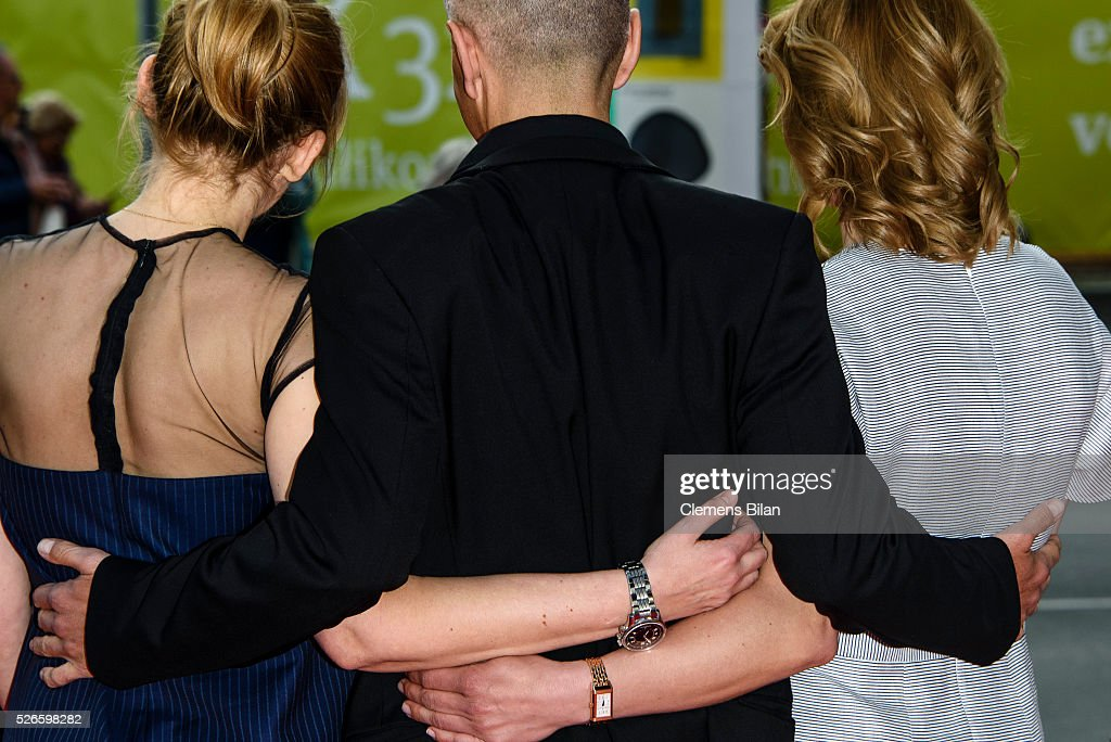 Laura Tonke, <a gi-track='captionPersonalityLinkClicked' href=/galleries/search?phrase=Christoph+Maria+Herbst&family=editorial&specificpeople=710835 ng-click='$event.stopPropagation()'>Christoph Maria Herbst</a> and <a gi-track='captionPersonalityLinkClicked' href=/galleries/search?phrase=Joerdis+Triebel&family=editorial&specificpeople=3953355 ng-click='$event.stopPropagation()'>Joerdis Triebel</a> attend the nominee dinner for the German Film Award 2015 Lola (Deutscher Filmpreis) on April 30, 2016 in Berlin, Germany.