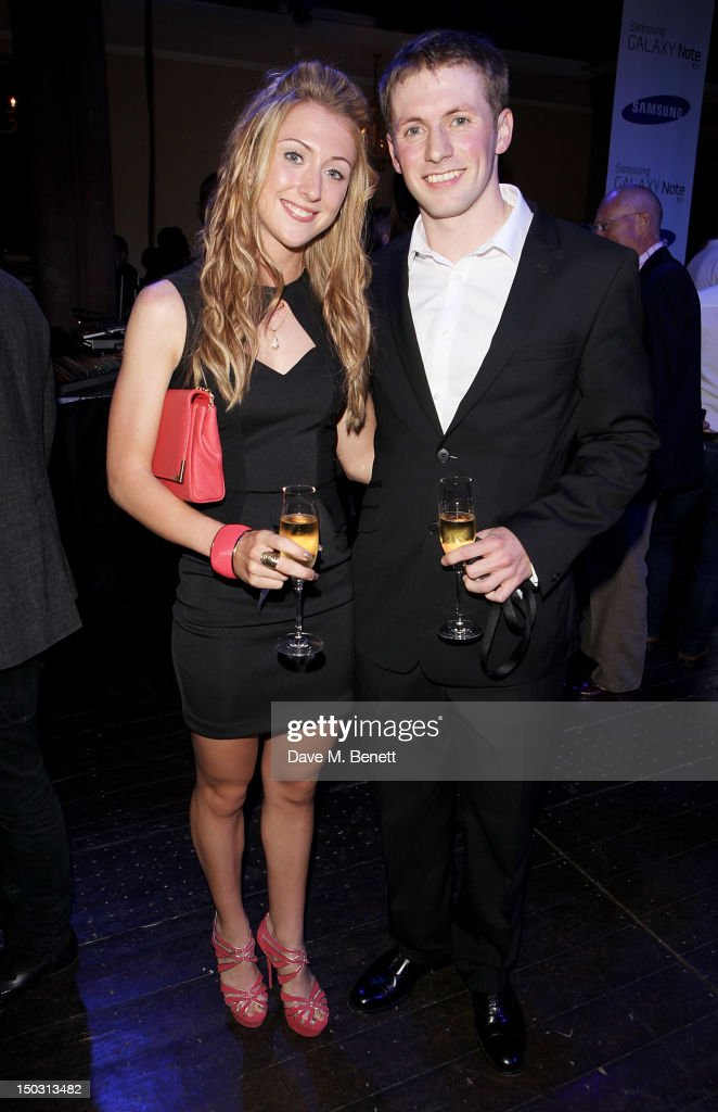 Laura Trott (L) and Jason Kenny attend the Samsung Galaxy Note 10.1 launch party at One Mayfair on August 15, 2012 in London, England.