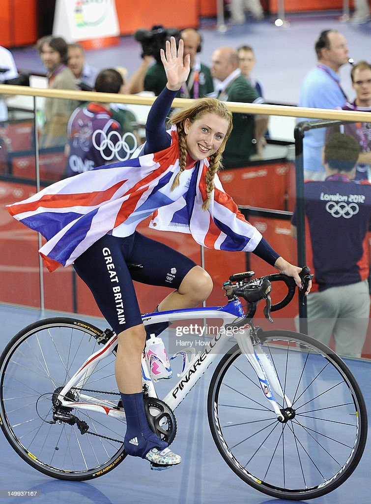 <a gi-track='captionPersonalityLinkClicked' href=/galleries/search?phrase=Laura+Trott&family=editorial&specificpeople=7205074 ng-click='$event.stopPropagation()'>Laura Trott</a> of Great Britain celebrates winning the Gold medal in the Women's Omnium Track Cycling 500m Time Trial on Day 11 of the London 2012 Olympic Games at Velodrome on August 7, 2012 in London, England.