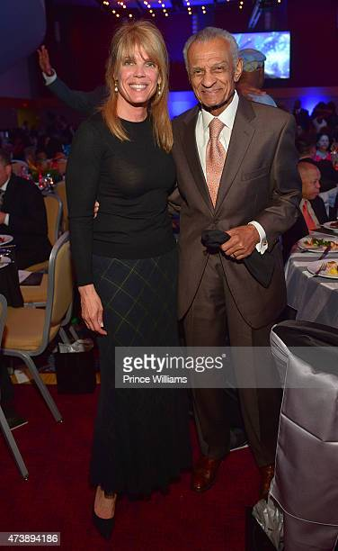 Laura Turner Seydel and CT Vivian attend Inaugural Andrew J Young Leadership Awards Birthday Tribute at Atlanta Marriot Marquis on May 17 2015 in...