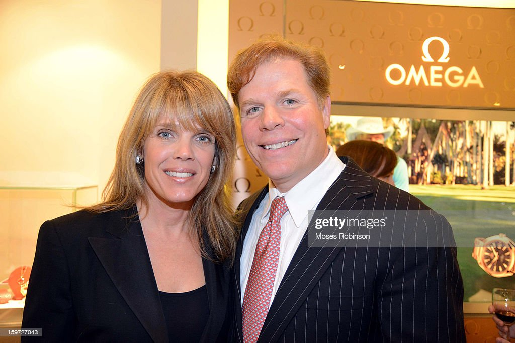 Laura Turner Seydel and Rutherford Seydel attend the OMEGA boutique opening at Phipps Plaza on January 17, 2013 in Atlanta, Georgia.