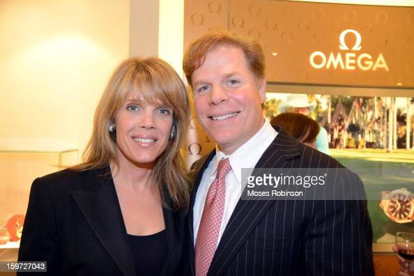 Laura Turner Seydel and Rutherford Seydel attend the OMEGA boutique opening at Phipps Plaza on January 17 2013 in Atlanta Georgia