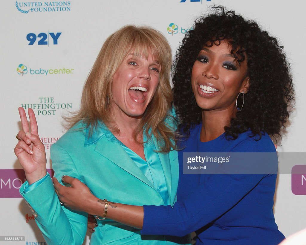Laura Turner Seydel of Turner Foundation and singer Brandy attend the Mom + Social Event at the 92Y Tribeca on May 8, 2013 in New York City.