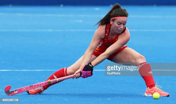 Laura Unsworth of England during the Investec International match between England Women and Netherlands Women at The Lee Valley Hockey and Tennis...