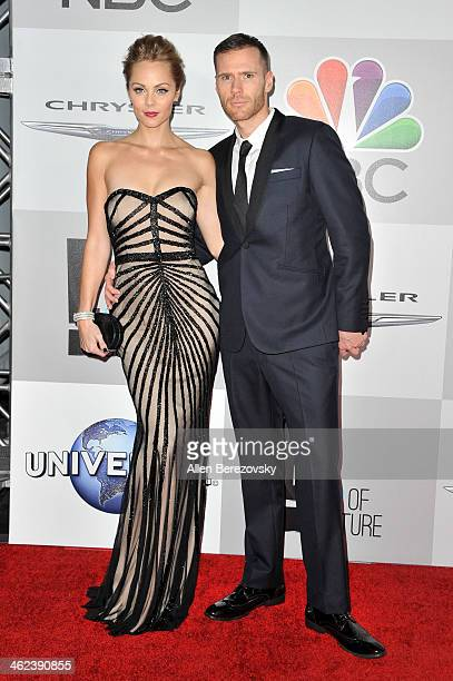 Laura Vandervoort and Oliver Trevenna attend the NBC/Universal's 71st Annual Golden Globes After Party at The Beverly Hilton Hotel on January 12 2014...