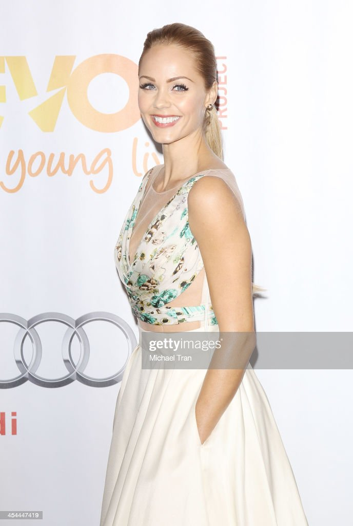<a gi-track='captionPersonalityLinkClicked' href=/galleries/search?phrase=Laura+Vandervoort&family=editorial&specificpeople=4436690 ng-click='$event.stopPropagation()'>Laura Vandervoort</a> arrives at the 15th Annual Trevor Project Benefit held at Hollywood Palladium on December 8, 2013 in Hollywood, California.