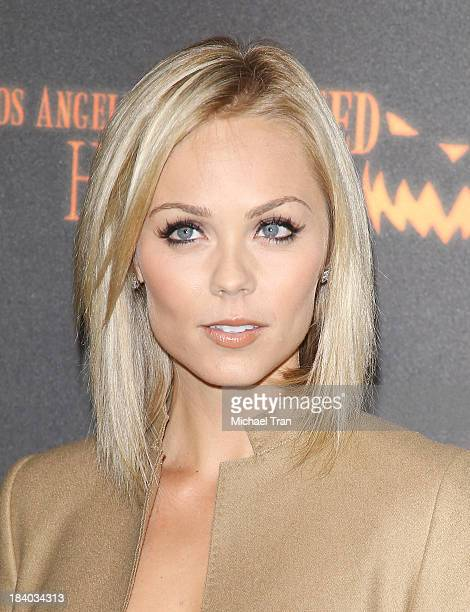 Laura Vandervoort arrives at the 5th Annual Los Angeles Haunted Hayride opening night held at Griffith Park on October 10 2013 in Los Angeles...