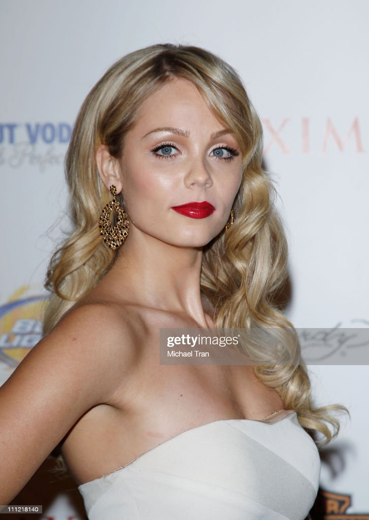 Laura Vandervoort arrives for the 11th Annual MAXIM HOT 100 Party held at Paramount Studios on May 19, 2010 in Los Angeles, California.