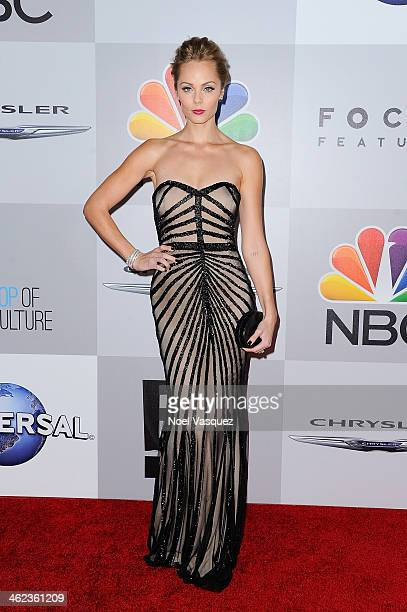 Laura Vandervoort attends NBC Universal's 71st Annual Golden Globe Awards After Party at The Beverly Hilton Hotel on January 12 2014 in Beverly Hills...