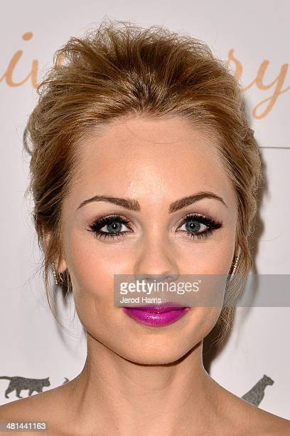 Laura Vandervoort attends the Humane Society of the United States 60th Anniversary Benefit Gala at The Beverly Hilton Hotel on March 29 2014 in...
