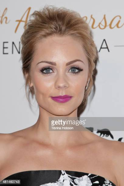 Laura Vandervoort attends the Humane Society's 60th anniversary benefit gala at the Beverly Hilton Hotel on March 29 2014 in Beverly Hills California