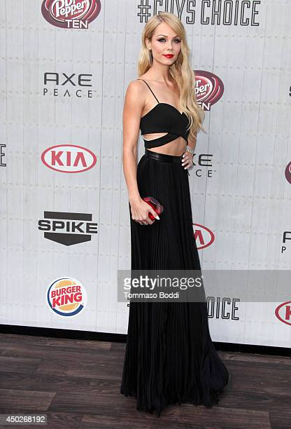 Laura Vandervoort attends the Spike TV's 'Guys Choice' Awards held at the Sony Studios on June 7 2014 in Los Angeles California