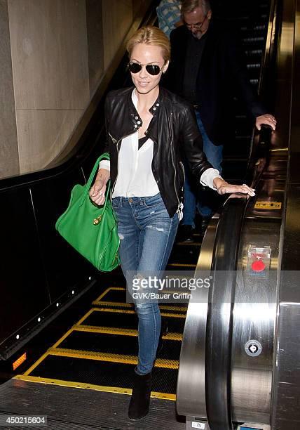 Laura Vandervoort is seen at LAX on June 06 2014 in Los Angeles California