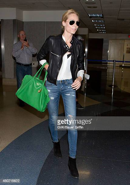 Laura Vandervoort is seen at LAX on June 06 2014 in Los Angeles California