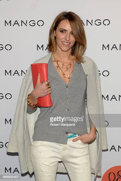 Laura Vecino poses during a photocall for the Mango Fashion show held at the Born Centre Cultural on January 27 2014 in Barcelona Spain
