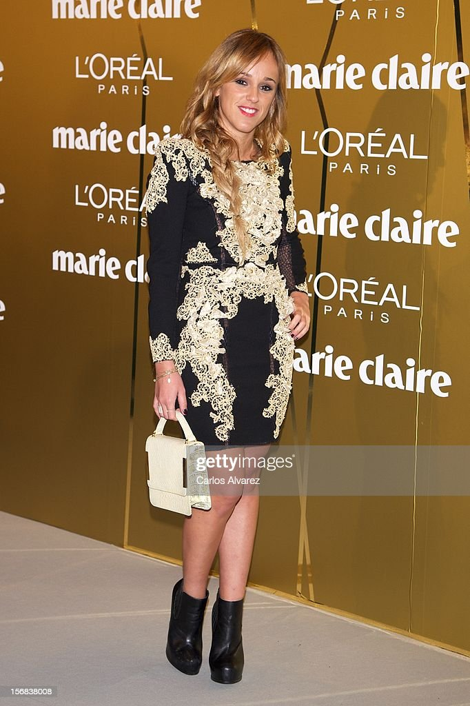 Laura Vela attends Marie Claire Prix de la Moda Awards 2012 at the French Embassy on November 22, 2012 in Madrid, Spain.