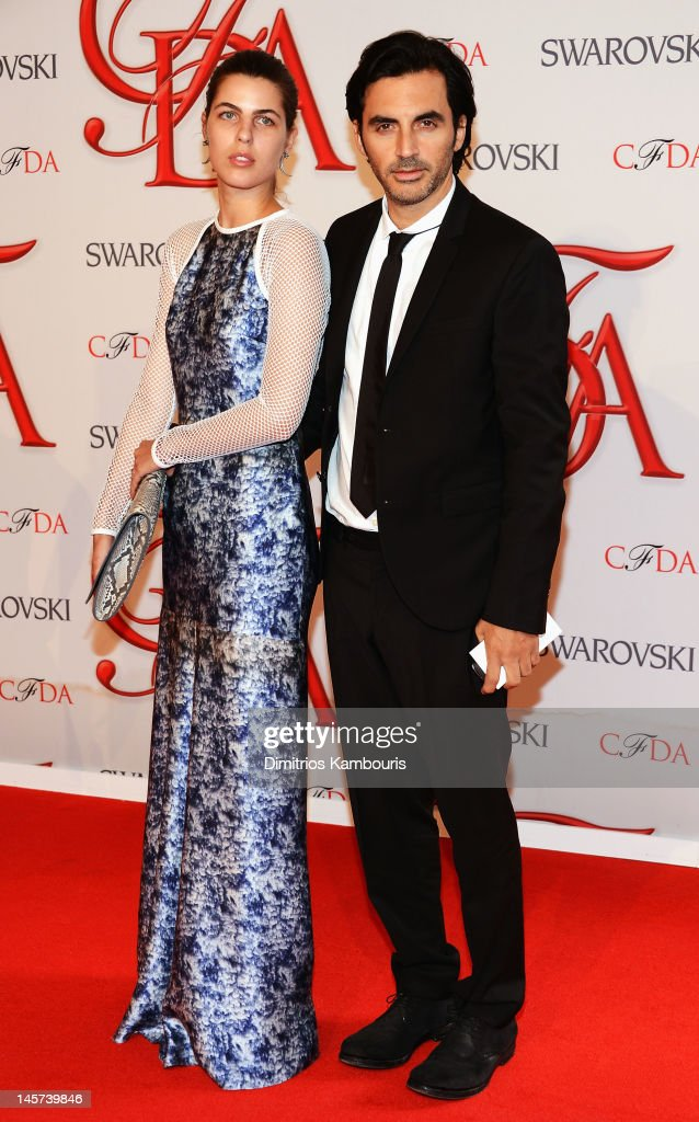 Laura Vidrequin and designer Yigal Azrouel attend the 2012 CFDA Fashion Awards at Alice Tully Hall on June 4, 2012 in New York City.
