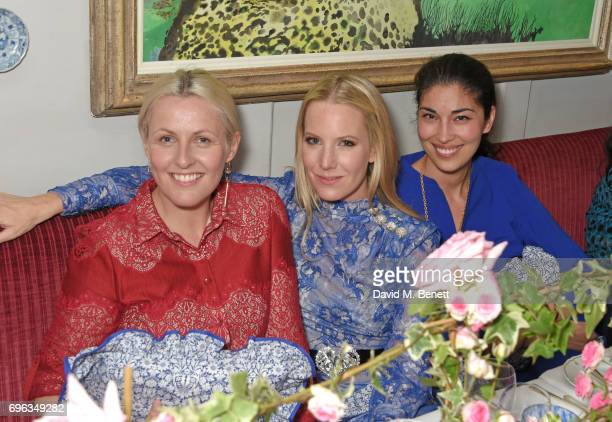 Laura Weir Alice NaylorLeyland and Caroline Issa attend an intimate dinner hosted by Alice NaylorLeyland for friends to celebrate her Garden Rose...
