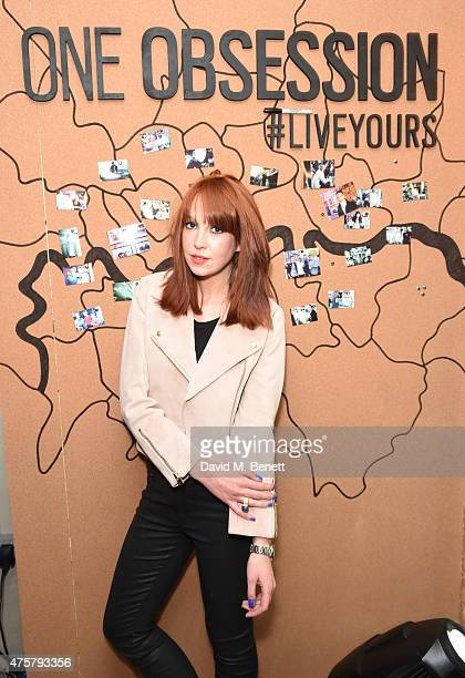 Laura Welsh attends the launch of OAKLEY IN RESIDENCE LONDON a popup cycling destination and hangout for creative collaboration on June 3 2015 in...