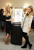 Laura Whitmore and Amber Atherton attend as Vertu and Smile Train launch their first charity handset the Constellation Smile with a private viewing...