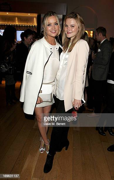 Laura Whitmore and Amber Atherton attend the Esquire Summer Party in association with Stella Artois at Somerset House on May 29 2013 in London England