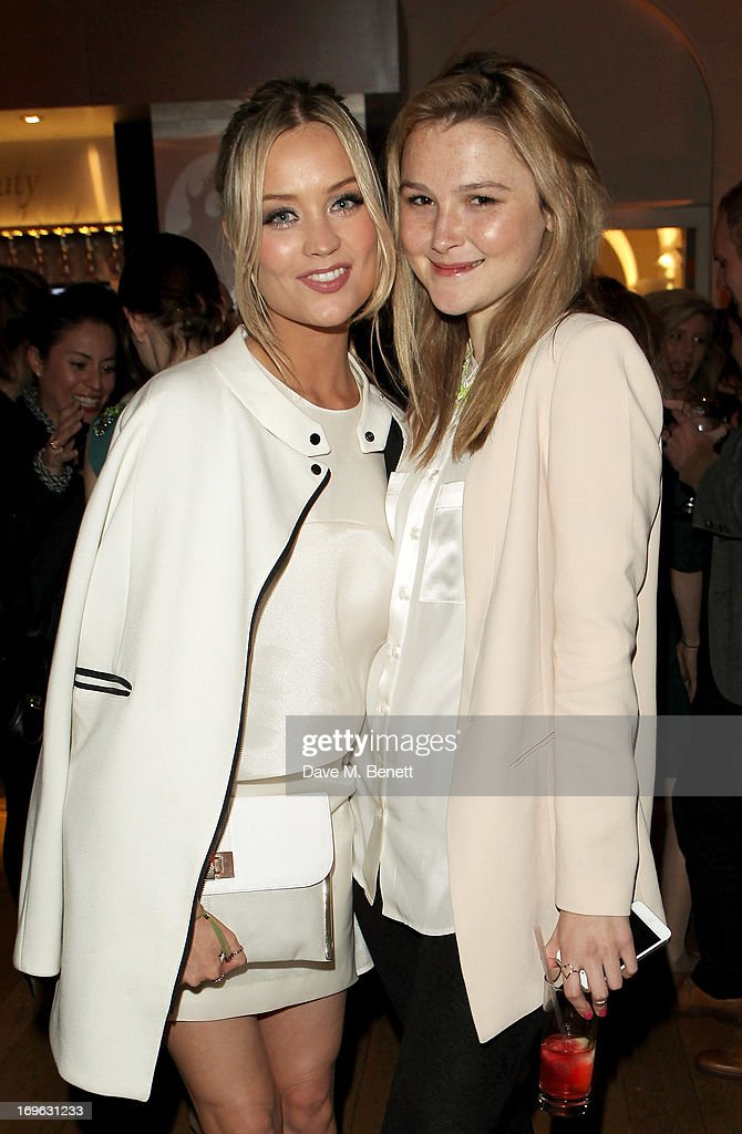 Laura Whitmore (L) and Amber Atherton attend the Esquire Summer Party in association with Stella Artois at Somerset House on May 29, 2013 in London, England.