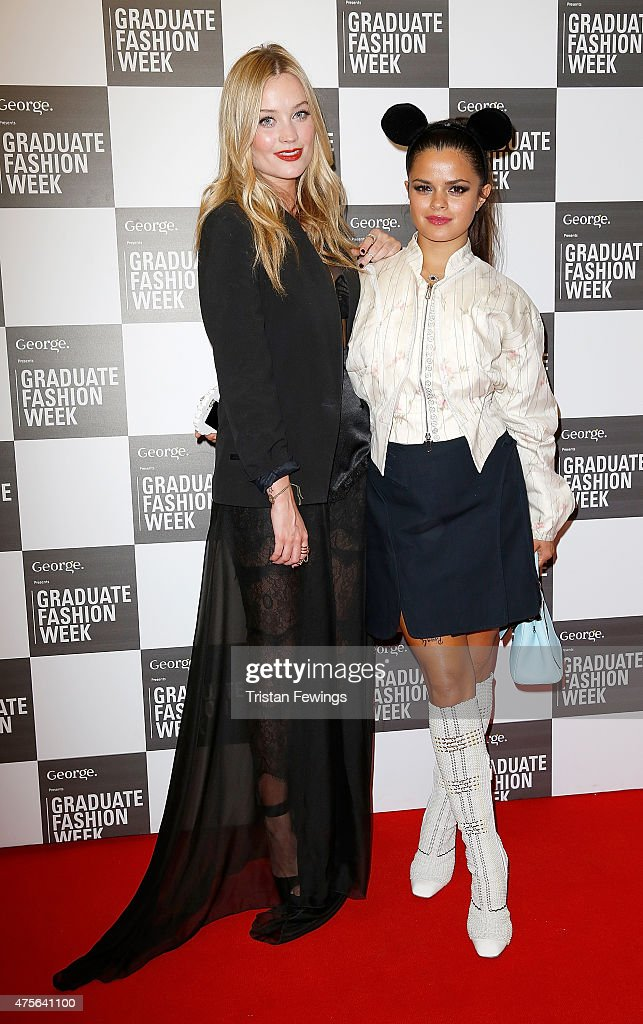 Laura Whitmore and Bip Ling attend on day 4 of Graduate Fashion Week at The Old Truman Brewery on June 2 2015 in London England