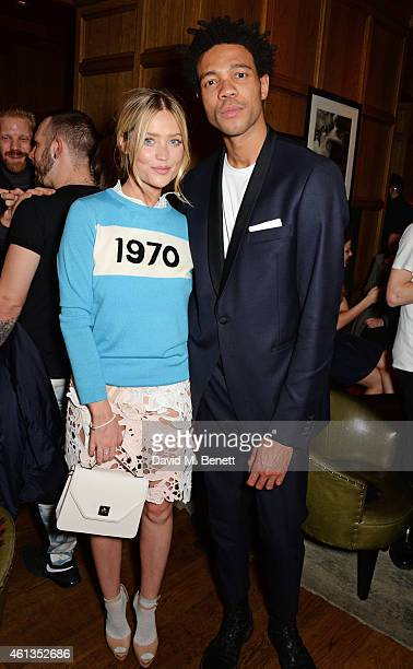 Laura Whitmore and Charlie CaselyHayford attend as Details x CaselyHayford celebrate London Collections Men in the Punch Room at the London Edition...