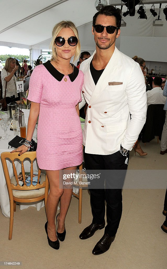 <a gi-track='captionPersonalityLinkClicked' href=/galleries/search?phrase=Laura+Whitmore&family=editorial&specificpeople=5599316 ng-click='$event.stopPropagation()'>Laura Whitmore</a> (L) and <a gi-track='captionPersonalityLinkClicked' href=/galleries/search?phrase=David+Gandy&family=editorial&specificpeople=4377663 ng-click='$event.stopPropagation()'>David Gandy</a> attend the Boujis tent at the Audi International Polo day at Guards Polo Club on July 28, 2013 in Egham, England.