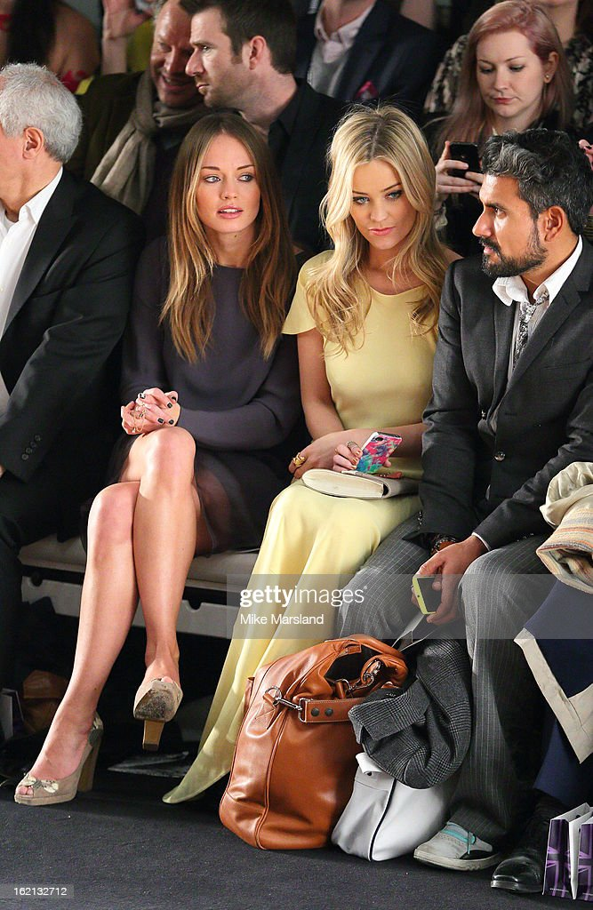 <a gi-track='captionPersonalityLinkClicked' href=/galleries/search?phrase=Laura+Whitmore&family=editorial&specificpeople=5599316 ng-click='$event.stopPropagation()'>Laura Whitmore</a> and <a gi-track='captionPersonalityLinkClicked' href=/galleries/search?phrase=Laura+Whitmore&family=editorial&specificpeople=5599316 ng-click='$event.stopPropagation()'>Laura Whitmore</a> attend the Maria Grachvogel show during London Fashion Week Fall/Winter 2013/14 at Somerset House on February 19, 2013 in London, England.