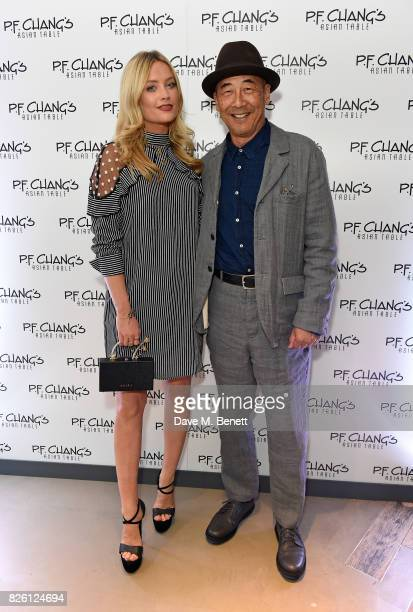 Laura Whitmore and Philip Chiang attend the launch party for PFChang's Asian Table restaurant which opens to the public on Friday 4th August on Great...