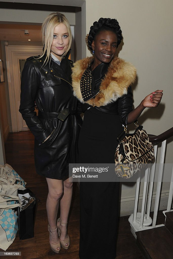 Laura Whitmore and Shingai Shoniwa attend the launch of the 'Urban Chess' Funding Initiative from East Village at Mortons on March 13, 2013 in London England.