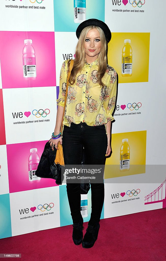 Laura Whitmore arrives as Glaceau vitaminwater presents 'Jessie J Live In London' at The Roundhouse on August 4, 2012 in London, England.