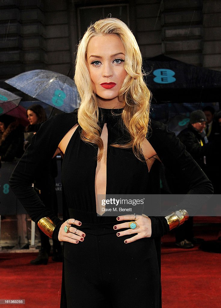 Laura Whitmore arrives at the EE British Academy Film Awards at the Royal Opera House on February 10, 2013 in London, England.