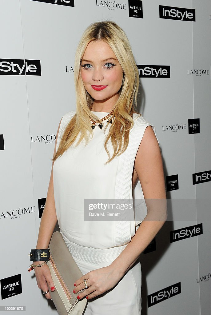 Laura Whitmore arrives at the InStyle Best Of British Talent party in association with Lancome and Avenue 32 at Shoreditch House on January 30, 2013 in London, England.