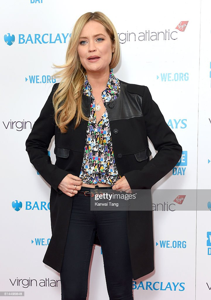 Laura Whitmore arrives for WE Day at SSE Arena on March 9, 2016 in London, England. WE Day is a celebration of youth making a difference in their local and global communities.