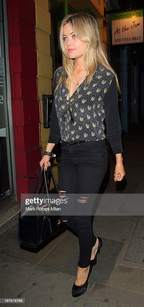 Laura Whitmore at Raffles night club on April 25, 2013 in London, England.