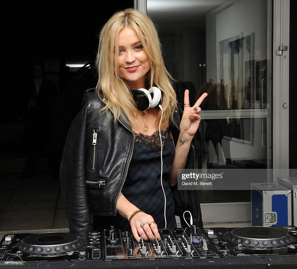 LAura Whitmore at the decks for the Macmillan De'Longhi Art Auction at Royal College of Art on September 23, 2013 in London, England.