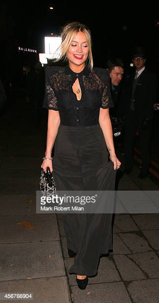 Laura Whitmore attend the Pride of Britain awards at The Grosvenor House Hotel on October 6 2014 in London England