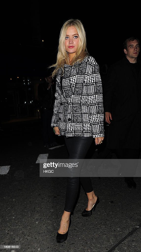 Laura Whitmore attend The W Magazine September issue party at The London EDITION Hotel on September 14, 2013 in London, England.