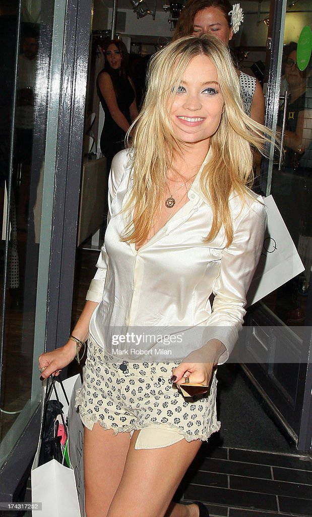 Laura Whitmore attending the AQAQ launch party on July 23, 2013 in London, England.