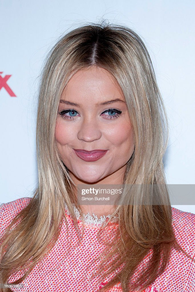 Laura Whitmore attends a fundraising cocktail party hosted by TK Maxx in aid of Comic Relief's Red Nose Day at The Royal Opera House on February 28, 2013 in London, England.