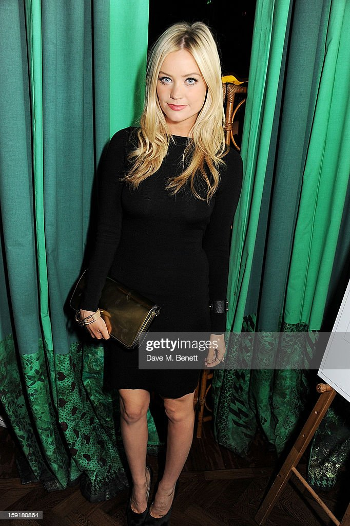 <a gi-track='captionPersonalityLinkClicked' href=/galleries/search?phrase=Laura+Whitmore&family=editorial&specificpeople=5599316 ng-click='$event.stopPropagation()'>Laura Whitmore</a> attends a private dinner hosted by Sir Paul Smith, Tinie Tempah and GQ editor Dylan Jones to celebrate London Collections: MEN AW13 at the Martin Creed Gallery Restaurant at Sketch on January 9, 2013 in London, England.