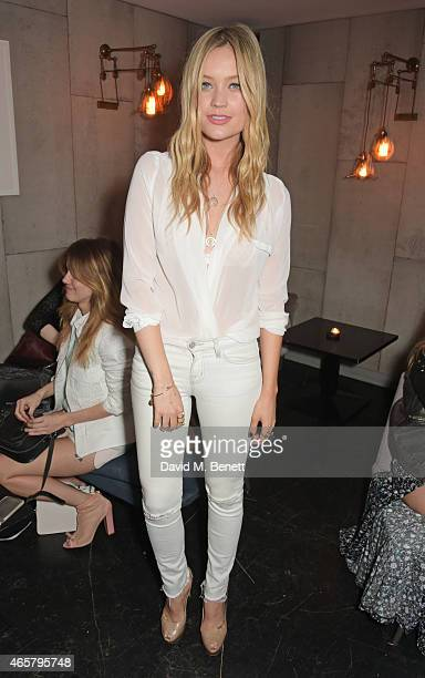 Laura Whitmore attends a private dinner to celebrate the launch of the Millie Mackintosh Spring/Summer 2015 Collection at Ramusake on March 10 2015...