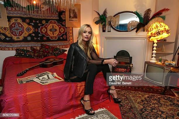 Laura Whitmore attends a private view of 'Hendrix At Home' at Jimi Hendrix's restored former Mayfair flat on February 9 2016 in London England