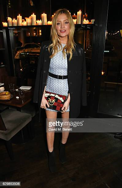 Laura Whitmore attends a VIP dinner to celebrate the launch of the Wonderland winter issue at Bo Lang on December 14 2016 in London England